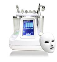 máscaras de pulverização venda por atacado-7 Em 1 Hidro Facial Dermabrasion Água 7 Cores LED Máscara RF BIO Ultrasonic RF Elevação de Rosto Fria Martelo Spray de Oxigênio Para Limpeza Facial Profunda