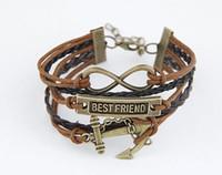 Wholesale Braided Leather Bracelet Directions - Infinity Retro Tribal Leather Bracelet Men Women Rope charm one direction Braided Bracelet wristbands vintage jewelry