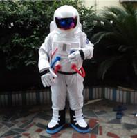 astronaut kostüme großhandel-Schlussverkauf ! Hohe Qualität Raumanzug Maskottchen Kostüm Astronaut Maskottchen Kostüm mit Rucksack Handschuh, ShoesFree Versand