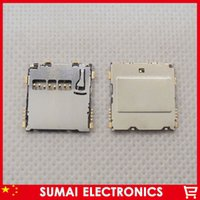 Gros-50pcs / lot ALPS TF Slot pour carte mémoire Pour Sumsung Mobile Phone Sim Card SMD