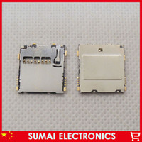 Wholesale-50pcs / lot ALPS TF-Karten-Slot für Sumsung Handy-SIM-Karte SMD