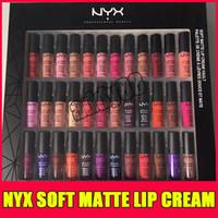 Wholesale nyx soft matte lip lipstick resale online - NYX SOFT MATTE LIP CREAM nyx Set Lipstick Lip Gloss Matte No Fading Sofe Velvet Lip Makeup colors set