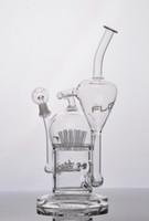 ingrosso impianti di flusso-JM Flow Sci Bong in vetro per tubo d'acqua con irrigatore 20 braccio diffuso perc Oil Rigs con cupola e chiodo