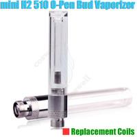 Wholesale Drip Coil Atomizer - New O pen Mini H2 Replacement coils Integrated drip CE3 CBD Oil Vaporizer BUD Touch wax Atomizer 510 vape thick Waxy Smoking Vapor Tank DHL