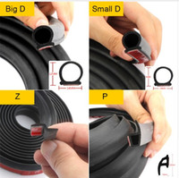 Wholesale Filler Adhesive - Car Rubber Seal Strip 5M Filler Adhesive Big D+Small D Z P Type Waterproof Trim Sound Insulation Noise Proofing Auto Accessories