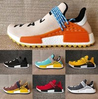 Wholesale Factory Family - Friends and Family NMD Human Race Factory Real Boost NMD Runner Pharrell Williams Hu NMD_TR Running Shoes Men Women Shoes Freeshipping Size