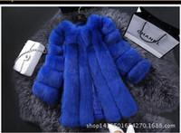Wholesale Ladies Fox Leather Jackets - New Fashion Winter Fur Jacket Woman Fox Fur Coat For Women's Furs Coats Women Warmest Ladies Overcoat free shipping T039
