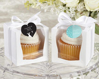 Wholesale Clear Single Cupcake Boxes Wholesale - Event and party suppliers Single Wedding 9x9 Cupcake Boxes Wedding Gift Box Favor Box free shipping
