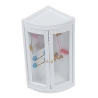 Wholesale Miniature Furniture Bathroom - Wholesale- 1:12 Childen Doll house Miniature Bathroom Furniture Shower Room