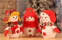 Wholesale apple bags for sale resale online - 2017 Hot sale Festive Christmas Decorations for Santa Claus Snowman Decoration apple bag cm