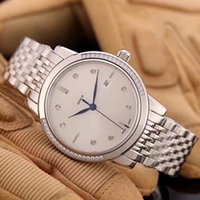 Wholesale Diamonds Box Packaging - CALATRAVA 2017 men luxury Distinguished diamond table gold PP watches automatic mechanical stainless steel watch with box packaging 24mm