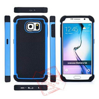 Wholesale Galaxy S3 Back Cover Blue - for Samsung Galaxy Note5 4 3 S6 S5 S4 S3 Shockproof 2 iN 1 Tough Hybrid Rubber Soccer Football Skin Hard Case Back Cover