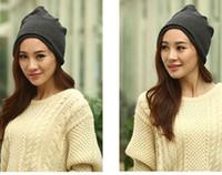 Wholesale Korean Beanie Men - Men and Women Autumn and Winter Warm Hats Korean Fashion Hedging Knit Caps Pregnant Women Hats Scarf