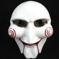 Wholesale horror puppet resale online - Saw Puppet Halloween Mask Head Creepy Scary Horror Mask Costumes Prop Cosplay