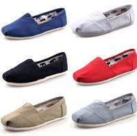 ingrosso mocassini di marca di modo degli uomini-DORP libero 2015 Nuovo commercio all'ingrosso donne e uomini moda sneakers scarpe di tela mocassini appartamenti espadrillas scarpe taglia 35-45