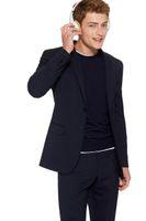 Wholesale Men Boys Slim Fit Suits - 2018 Brand Casual Mens Suits Blazer Designs Mens Party Slim Fit Boys Suit Jacket Men Wedding Tuxedos Fashion Male Suits (Jacket+Pant)