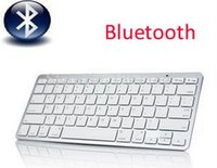 Wholesale Iphone Macbook Bluetooth - Wholesale-2014 Hot Sale Free shipping Bluetooth Wireless Keyboard for PC Macbook MacFor ipad 3 4 For iphone For Windows XP 7 8