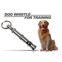 Wholesale Stainless Steel Dog Whistle - New Stainless Steel Adjustable High Pitch Pet Dog Training Whistle With Ultrasounds trainers