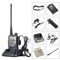 Vente en gros-Baofeng UV-5RE + Plus Dual-Band Walkie Talkie 136-174400-520MHz poche radio à deux voies uv 5RE Noir