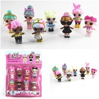 8 pz / set 2017 9 cm Lol Sorpresa Bambola Baby Doll Sorpresa Bambola Action Figure Toy Dress Up Toy La Bambina Ornamenti Decorazione