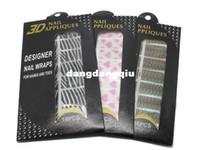 Wholesale Nails Metal 3d - Wholesale-10 sheets lot 16pcs sheet 72 Styles 3D Rhinestone Nail Sticker Nail Appliques Patch Nail Wraps Free Shipping nail decal
