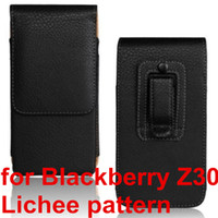 böğürtlen cep telefonu kapakları toptan satış-Toptan Moda PU Deri Kılıf Kemer Klipsi Kapak Cep Telefonu Kılıfı BlackBerry Z30 Için Yüksek Kalite Ücretsiz