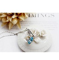 Wholesale Womens High Heel Wholesale Shoes - Long Pendant Hot Womens Luxury Crystal High Heel Shoes and Diamond Ornament Pendant Fashion Lady Alloy Necklace