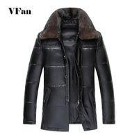 Wholesale Men S Euro Jackets - Fall-Men Winter Leather Jacket 2015 Fashion Brand Fur Collar Winter Thicken Warm High Quality Sheepskin Jacket Coat Z1942-Euro