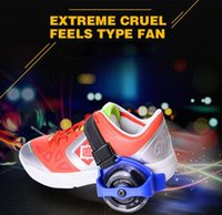 Wholesale wheel skating shoes resale online - Children Scooter Kids Sporting Pulley Lighted Flashing Roller Wheels Heel Skate Rollers Skates Wheels Shoe Skate Roller