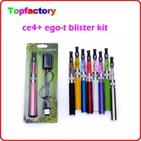 Wholesale New Ego Blister Pack - new ego starter kit CE4+ CE4 plus atomizer 650mah 900mah 1100mah battery for e cigarette in Blister pack good quality DHL free