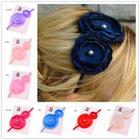 Cheap Hair Bows New Pear Flower Best Lace Solid Baby Hair set