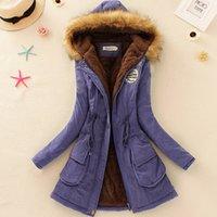 Wholesale Hoodies Outerwear Parka - Wholesale-On Sale! Women parka 2015 wadded winter jacket women outerwear jackets Thickening Warm Winter Coat Long Hoodies Parkas HL0065