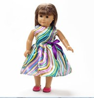 "Wholesale Western Dresses For Baby Girls - American Doll Clothes Ethnic Dress Fits 18"" American Girl Dolls For Baby Girl's Gift"
