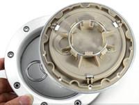 колпак ступицы центра колеса audi оптовых-Высокое качество 4 шт./лот серебро ABS+сплав 146 мм обод крышка колеса центр hub крышки авто крышки для Audi TT Quattro центр колеса Hub Cap