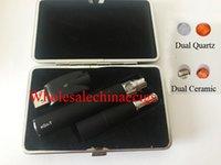 ego e zigaretten-dual-kit großhandel-Doppelter Quarz-Bratpfannen-Zerstäuber Ego T Batterie-E-Zigaretten-Geschenk-Kasten Wachs-Zerstäuber W6 Kugel-trockene Kraut-Stift-Starter-Ausrüstungs-elektronische Zigarette