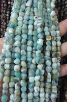 Perles Turquoise Pas Cher-En gros 5 chaînes Amazonite perles Africaine Turquoise Gemstone agate onyx fluorite Pierre Chips Nuggets FreeForm 4-10mm