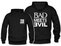 Wholesale Bad Meets Evil - new Sweatshirt hoodie eminem royceda59 pullover jacket bad meets evil autumn and winter outerwear E relapse sweater