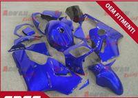 ingrosso zx12r blu-Motivo blu brillante dipinto completamente personalizzato della carenatura per stampaggio a iniezione fresca Kawasaki Ninja ZX12R 2000-2001 27
