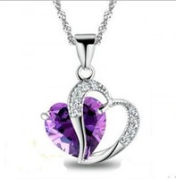 011 Heart Love regalo dei monili 925 Amethyst CZ Diamonique Pendant di Lady