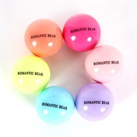 Wholesale 3D Lipstick New Makeup Round Ball Moisturizing lip balm Natural Plant Sphere lip Pomade lip balm Fruit Embellish lip Care A