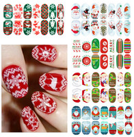 Wholesale Snow Nail Stickers - Manicure luminous Full sticker Christmas series Snow Santa Claus festival nail stickers Gift stickers nail decoration