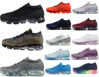 Wholesale Mens Casual Fashions - 2018 New Vapormax Mens casual Shoes For Men Sneakers Women Fashion Athletic Sport Shoe Hot Corss Hiking Jogging Walking Black Blue Red Shoes
