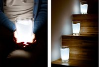 Wholesale Milk Glass Led Night Light - Wholesale LED Milk Cup Light New Gift cream-colored glass night light AAA Battery (not include) #TK89