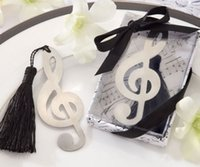 Wholesale 20 Music Note Alloy Bookmark Novelty Ducument Book Marker Label Stationery allus