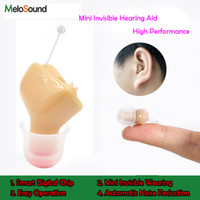 Wholesale Smallest Hearing Aids - 1PCS melosound CIC invisible Hearing Aid Portable Small inner Ear Best Sound Amplifier digital Hearing Aids Right Ear