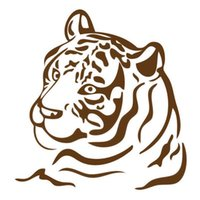 Wholesale Wholesale Tiger Wall Decals - Wholesale 20pcs lot Vinyl Decals Car Stickers Glass Stickers Scratches Stickers Wall Die Cut Bumper Accessories Jdm Classic Tiger Stripe