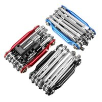 Wholesale 3 Colors in Bicycle Moutain Road Bike Tool Set Bicycle Cycling Multi Repair Tools Sets Kit Wrench Screwdriver Chain Cutter