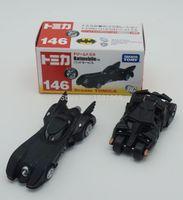 Wholesale Batman Diecast - 2pcs set New TOMY Tomica Marco Batman Car 4th No146 148 Batmobile Cars Diecast Metal Toy For Baby Kids Boy