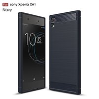 Wholesale xperia black case for sale – best hot for sony xperia xa1 Plus xa1 ultra xa1 ultra phone case Carbon Fiber Brushed Texture Environmental slim Hybrid Super rugged armor caus