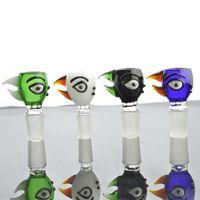comprar gafas online al por mayor-Bird Head Glass Bowl para Bongs Online Head Shop Glass Pipe Bowl Cuencos de tabaco para fumar Bowl Herb Bowl